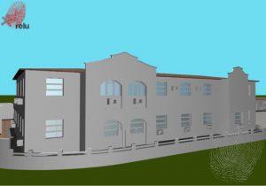 Desenho em 3D da residência