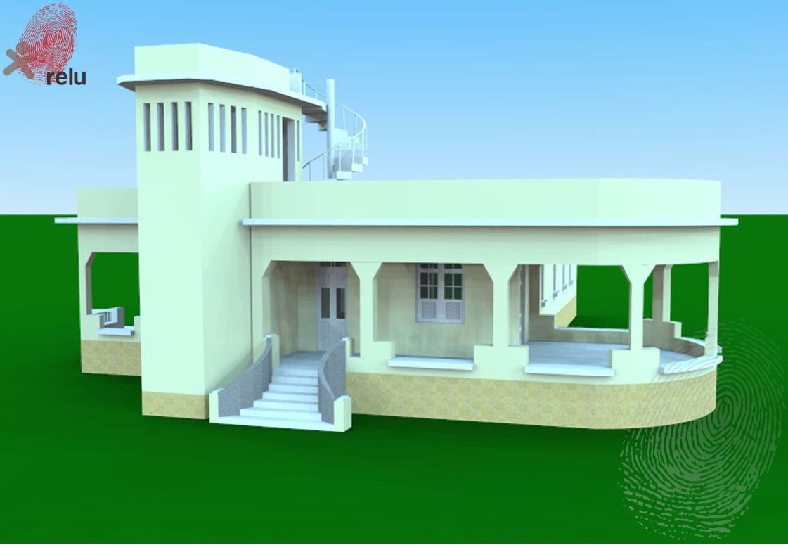 Desenho da residência de frente