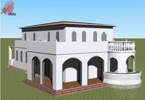 Desenho em 3D da residência 415