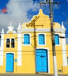 Foto recente da igreja Nossa Senhora da Guia vista de frente