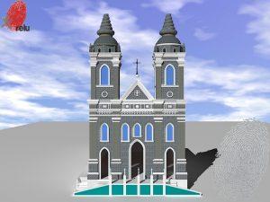 Desenho em 3D da Igreja dos Martírios