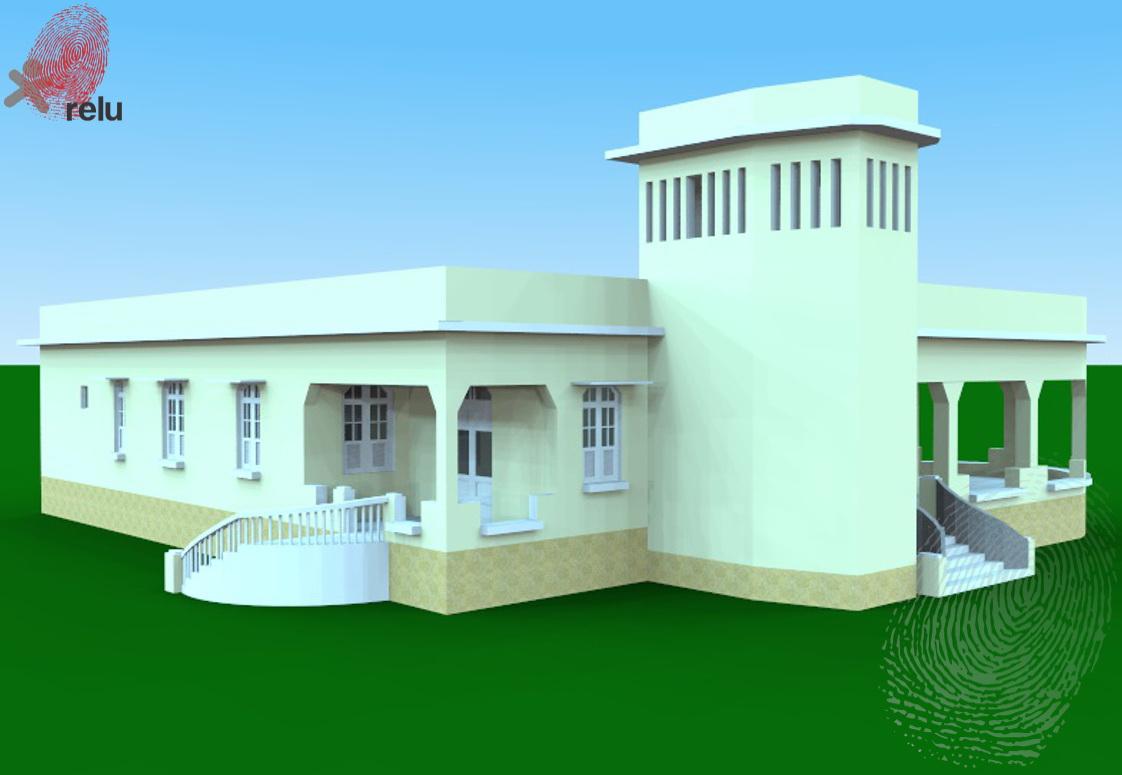 Desenho da residência  de lado